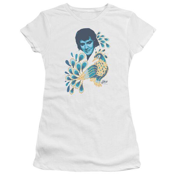 Elvis Peacock Short Sleeve Junior Sheer T-Shirt
