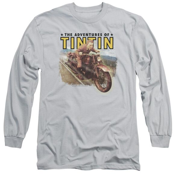 Tintin Open Road Long Sleeve Adult T-Shirt