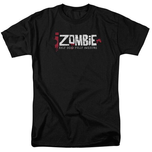Izombie Logo Short Sleeve Adult Black T-Shirt