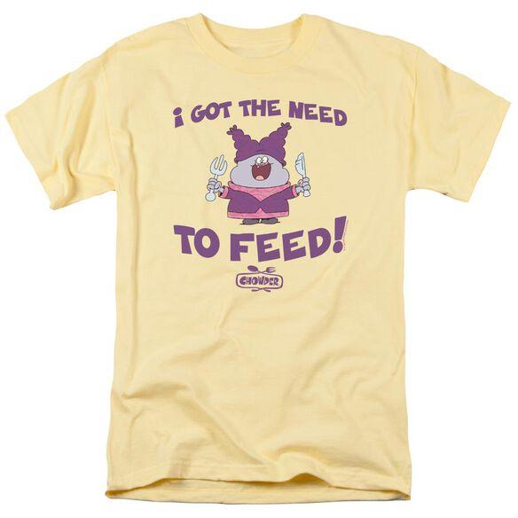 Chowder The Need Short Sleeve Adult Banana T-Shirt