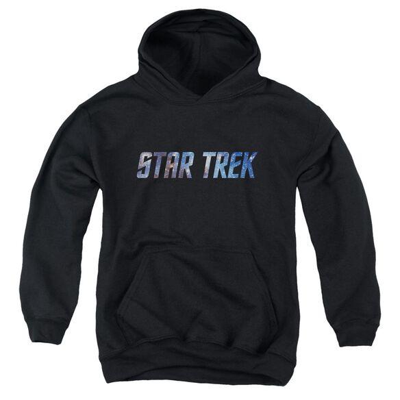 Star Trek Space Logo Youth Pull Over Hoodie