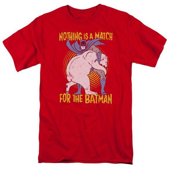 Batman Bear Wrastling Short Sleeve Adult T-Shirt