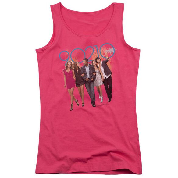 90210 Walk Down The Street - Juniors Tank Top - Hot Pink