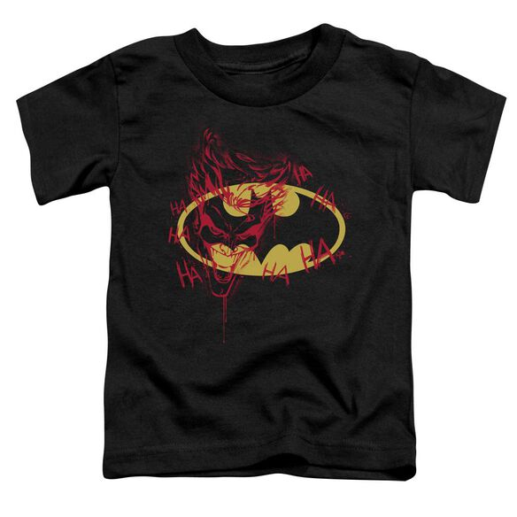 Batman Joker Graffiti Short Sleeve Toddler Tee Black Sm T-Shirt