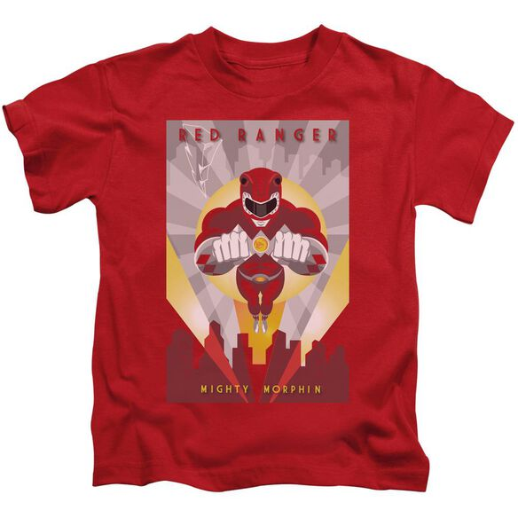 Power Rangers Red Deco Short Sleeve Juvenile Red T-Shirt