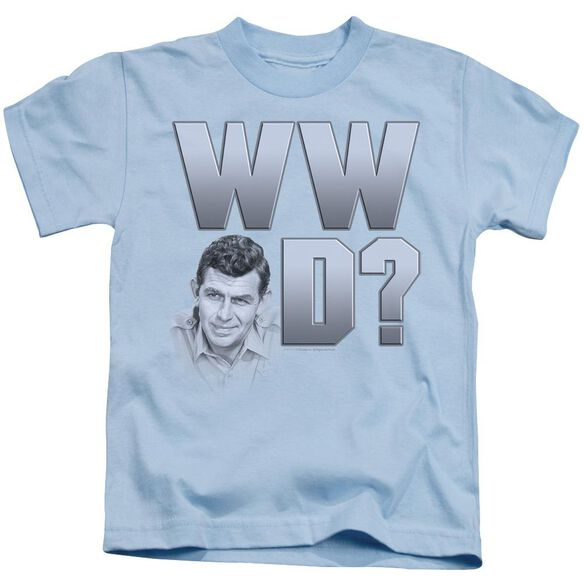 Andy Griffith Wwad Short Sleeve Juvenile Light Blue T-Shirt