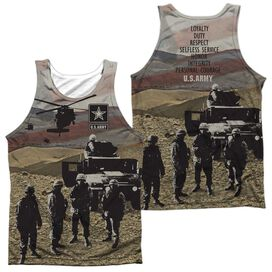 Army Values (Front Back Print) Adult 100% Poly Tank Top