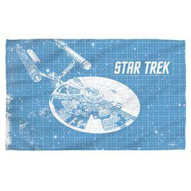 Star Trek Enterprise Blueprint Face Hand Towel