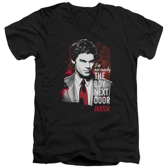 Dexter Boy Next Door Short Sleeve Adult V Neck T-Shirt
