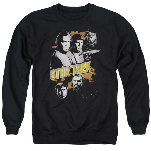 Star Trek Graphic Good Vs Evil Adult Crewneck Sweatshirt