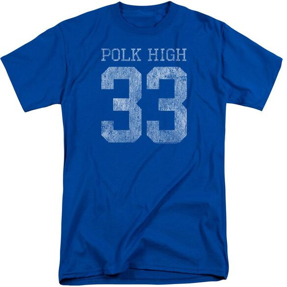 Married With Children Polk High Short Sleeve Adult Tall Royal T-Shirt