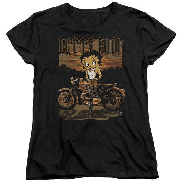 Betty Boop Rebel Rider Short Sleeve Womens Tee T-Shirt