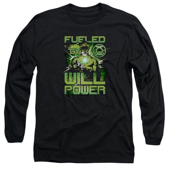 Green Lantern Fueled Long Sleeve Adult T-Shirt