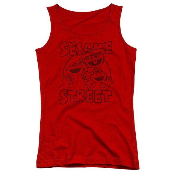 Sesame Street Group Crunch Juniors Tank Top