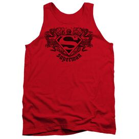 Superman Superman Dragon - Adult Tank - Red