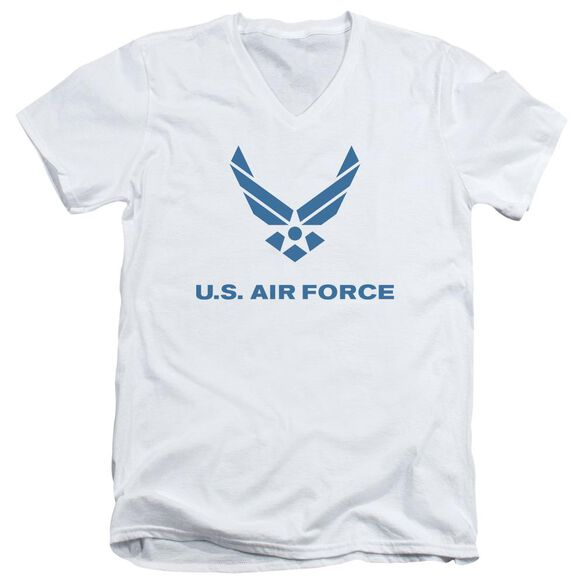 Air Force Distressed Logo Short Sleeve Adult V Neck T-Shirt