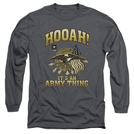 Army Hooah Long Sleeve Adult T-Shirt