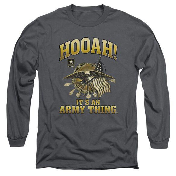 Army Hooah Long Sleeve Adult T-Shirt