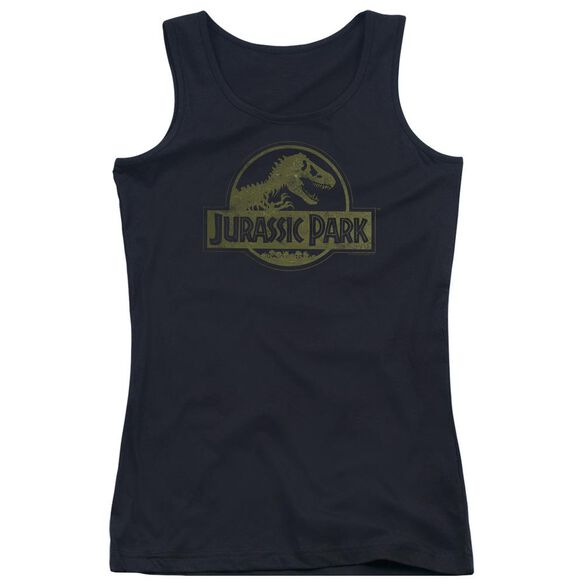 Jurassic Park Distressed Logo Juniors Tank Top
