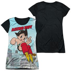 Astro Boy City Boy Short Sleeve Junior Poly Black Back T-Shirt
