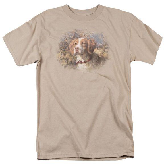 Wildlife Brittany Head Ii Short Sleeve Adult Sand T-Shirt