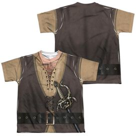 Princess Bride Montoya Costume (Front Back Print) Short Sleeve Youth Poly Crew T-Shirt