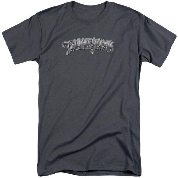 Three Stooges Metallic Logo Short Sleeve Adult Tall T-Shirt