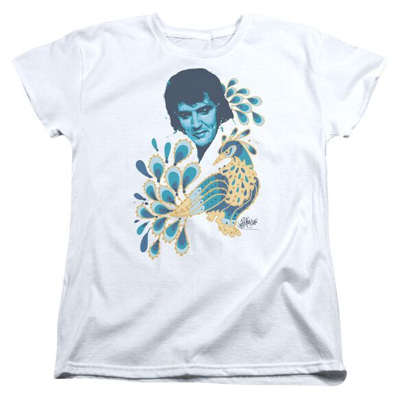Elvis Presley Peacock Short Sleeve Womens Tee T-Shirt