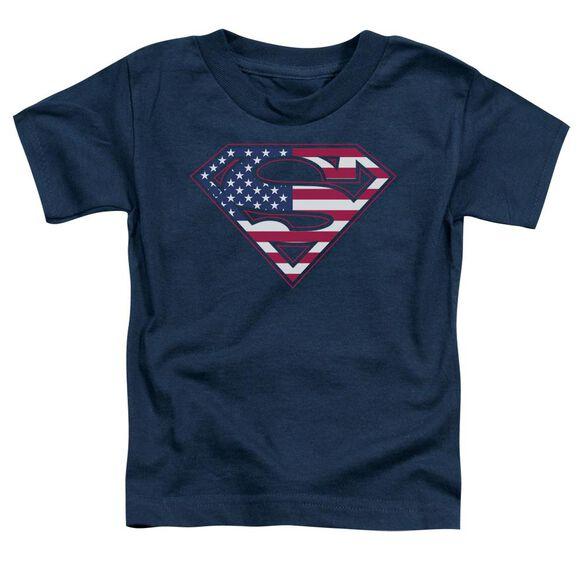 Superman U S Shield Short Sleeve Toddler Tee Navy Lg T-Shirt