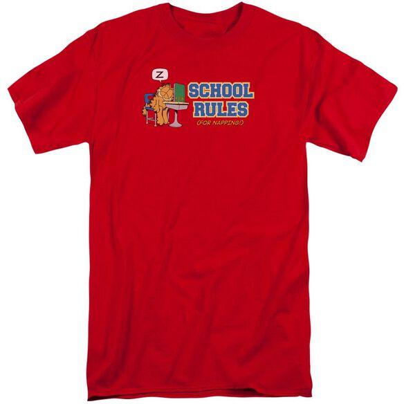 Garfield School Rules Short Sleeve Adult Tall T-Shirt