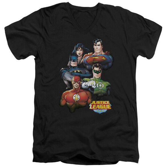 Jla Group Portrait Short Sleeve Adult V Neck T-Shirt