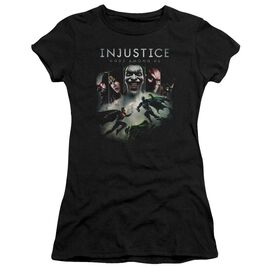 Injustice Gods Among Us Key Art Short Sleeve Junior Sheer T-Shirt