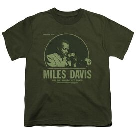 Miles Davis The Miles Short Sleeve Youth Military T-Shirt