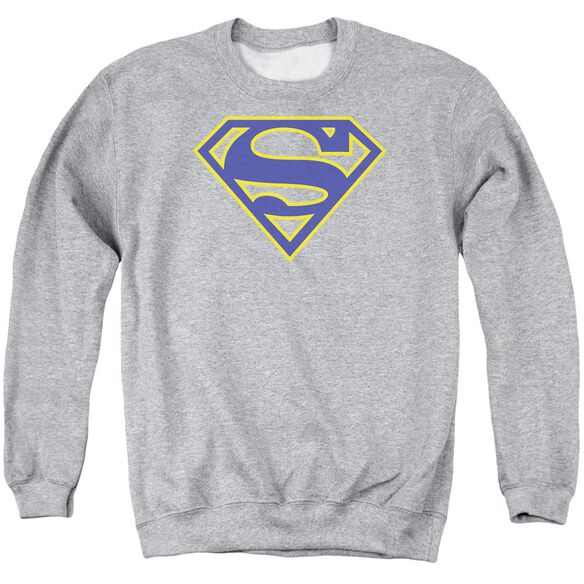Superman Maize &Amp; Blue Shield Adult Crewneck Sweatshirt Athletic