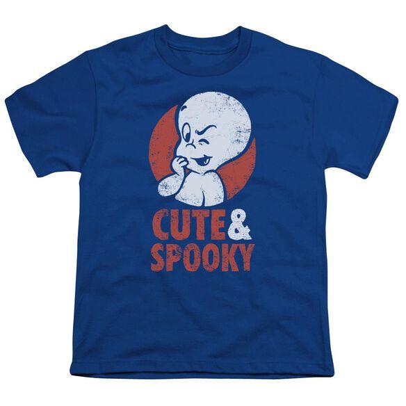 Casper Spooky Short Sleeve Youth Royal T-Shirt