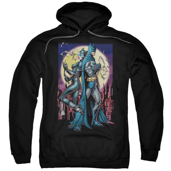 Batman Paint The Town Red Adult Pull Over Hoodie Black