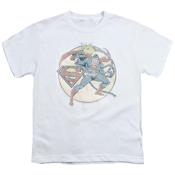Dco Retro Superman Iron On Short Sleeve Youth T-Shirt