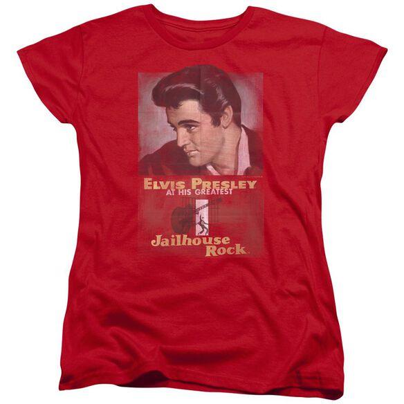 Elvis Presley Jailhouse Rock Poster Short Sleeve Womens Tee T-Shirt