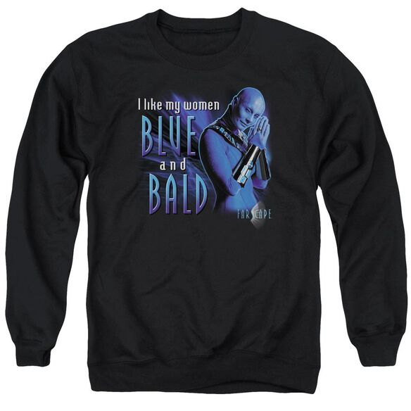 Farscape Blue And Bald Adult Crewneck Sweatshirt