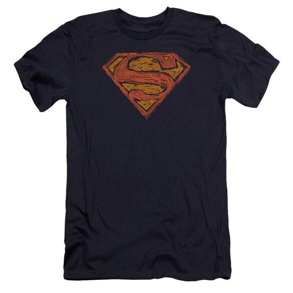 Superman Messy S Premuim Canvas Adult Slim Fit