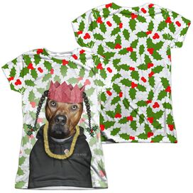 Pets Rock Rapping Paper (Front Back Print) Short Sleeve Junior Poly Crew T-Shirt