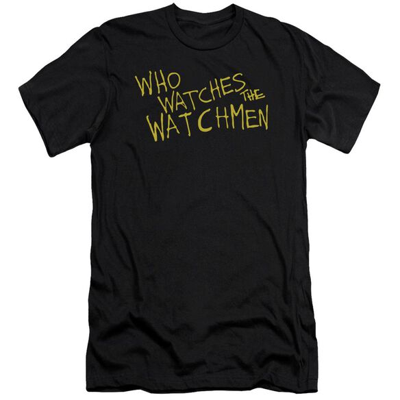 Watchmen Who Watches Premuim Canvas Adult Slim Fit