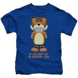 My Homework Short Sleeve Juvenile Royal Blue Md T-Shirt