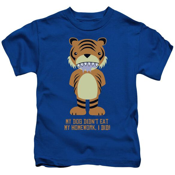 My Homework Short Sleeve Juvenile Royal Blue Md T-Shirt