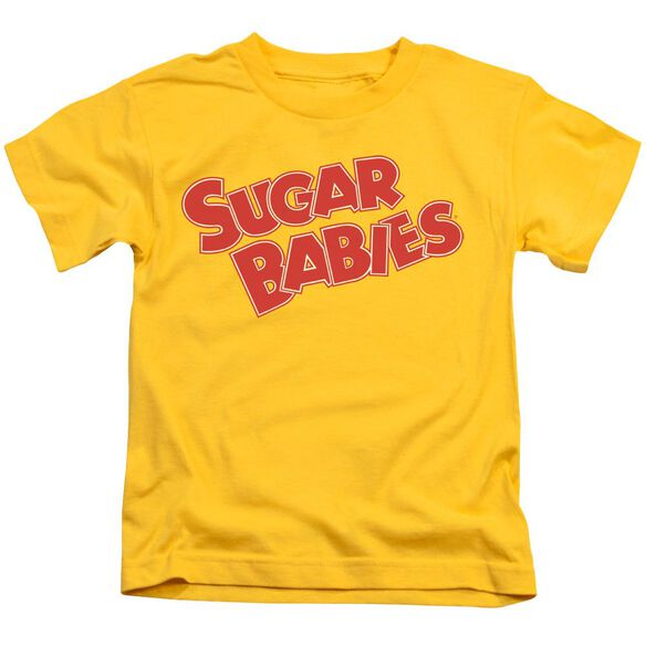 Tootsie Roll Sugar Babies Short Sleeve Juvenile Yellow T-Shirt
