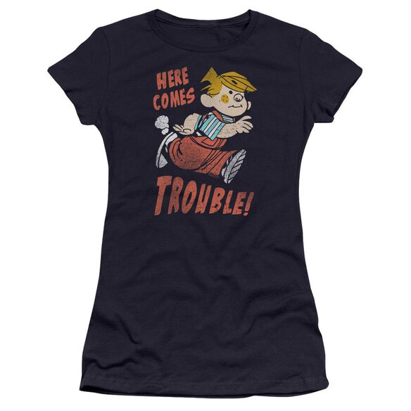 Dennis The Menace Here Comes Trouble Hbo Short Sleeve Junior Sheer T-Shirt