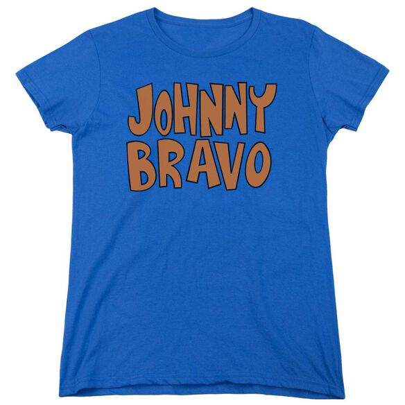 Johnny Bravo Jb Logo Short Sleeve Womens Tee Royal T-Shirt