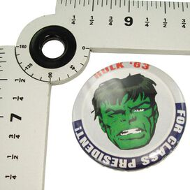 Incredible Hulk President Button