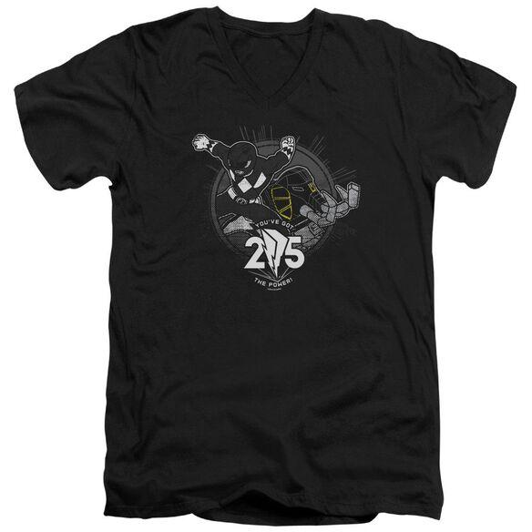 Power Rangers 25 Short Sleeve Adult V Neck T-Shirt