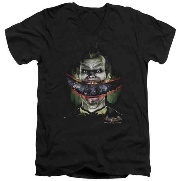 Batman Aa Crazy Lips Short Sleeve Adult V Neck T-Shirt